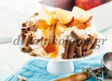 Τούρτα παγωτό γιαούρτι με μαρμελάδα νεκταρίνι πανεύκολη, εντυπωσιακή & πεντανόστιμη από την Ντίνα Νικολάου - Κυρίως Φωτογραφία - Gallery - Video