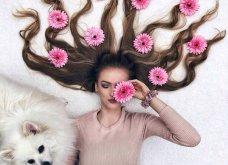 Καλλιτέχνιδα μας δείχνει τα πανέμορφα μαλλιά της: Στολισμένα με λουλούδια ή φύλλα - Φώτο  - Κυρίως Φωτογραφία - Gallery - Video 2
