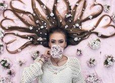 Καλλιτέχνιδα μας δείχνει τα πανέμορφα μαλλιά της: Στολισμένα με λουλούδια ή φύλλα - Φώτο  - Κυρίως Φωτογραφία - Gallery - Video 3