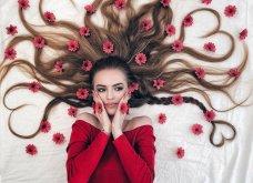 Καλλιτέχνιδα μας δείχνει τα πανέμορφα μαλλιά της: Στολισμένα με λουλούδια ή φύλλα - Φώτο  - Κυρίως Φωτογραφία - Gallery - Video 5
