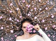 Καλλιτέχνιδα μας δείχνει τα πανέμορφα μαλλιά της: Στολισμένα με λουλούδια ή φύλλα - Φώτο  - Κυρίως Φωτογραφία - Gallery - Video 7