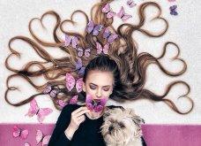 Καλλιτέχνιδα μας δείχνει τα πανέμορφα μαλλιά της: Στολισμένα με λουλούδια ή φύλλα - Φώτο  - Κυρίως Φωτογραφία - Gallery - Video 8