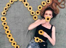 Καλλιτέχνιδα μας δείχνει τα πανέμορφα μαλλιά της: Στολισμένα με λουλούδια ή φύλλα - Φώτο  - Κυρίως Φωτογραφία - Gallery - Video 11
