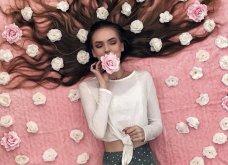 Καλλιτέχνιδα μας δείχνει τα πανέμορφα μαλλιά της: Στολισμένα με λουλούδια ή φύλλα - Φώτο  - Κυρίως Φωτογραφία - Gallery - Video 12