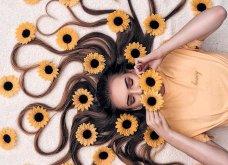 Καλλιτέχνιδα μας δείχνει τα πανέμορφα μαλλιά της: Στολισμένα με λουλούδια ή φύλλα - Φώτο  - Κυρίως Φωτογραφία - Gallery - Video 13