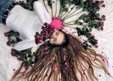 Καλλιτέχνιδα μας δείχνει τα πανέμορφα μαλλιά της: Στολισμένα με λουλούδια ή φύλλα - Φώτο  - Κυρίως Φωτογραφία - Gallery - Video 16