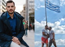 """Ο αστυνομικός Λώλης στην Ελεονώρα: Το """"γκέι φιλί"""" μπροστά στη σημαία ήταν έκφραση ελευθερίας (Φωτό & Βίντεο) - Κυρίως Φωτογραφία - Gallery - Video"""