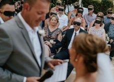 Καλεσμένοι σε γάμο φόρεσαν μάσκες για συμπαράσταση στη νύφη – Βίωσαν την εμπειρία του να είσαι τυφλός - Κυρίως Φωτογραφία - Gallery - Video