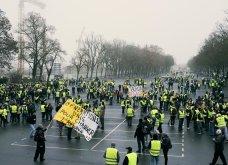 """Παρίσι: """"Ένατη πράξη"""" των κινητοποιήσεων των κίτρινων γιλέκων - Έφτασαν στην Αψίδα του Θριάμβου μέσα σε """"βροχή"""" δακρυγόνων (φωτό)  - Κυρίως Φωτογραφία - Gallery - Video"""