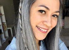50 υπέροχες γυναίκες που λατρεύουν τα γκρίζα τους μαλλιά & μας τα παρουσιάζουν - Φώτο    - Κυρίως Φωτογραφία - Gallery - Video