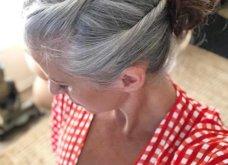 50 υπέροχες γυναίκες που λατρεύουν τα γκρίζα τους μαλλιά & μας τα παρουσιάζουν - Φώτο    - Κυρίως Φωτογραφία - Gallery - Video 11