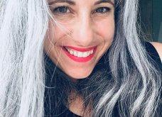 50 υπέροχες γυναίκες που λατρεύουν τα γκρίζα τους μαλλιά & μας τα παρουσιάζουν - Φώτο    - Κυρίως Φωτογραφία - Gallery - Video 18