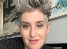 50 υπέροχες γυναίκες που λατρεύουν τα γκρίζα τους μαλλιά & μας τα παρουσιάζουν - Φώτο    - Κυρίως Φωτογραφία - Gallery - Video 19