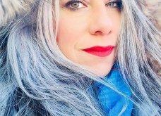 50 υπέροχες γυναίκες που λατρεύουν τα γκρίζα τους μαλλιά & μας τα παρουσιάζουν - Φώτο    - Κυρίως Φωτογραφία - Gallery - Video 41