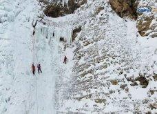 Αναρρίχηση στους παγωμένους καταρράκτες της Στρογγούλας – Βίντεο που κόβει την ανάσα  - Κυρίως Φωτογραφία - Gallery - Video