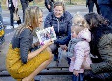 Η βασίλισσα Μαξίμα της Ολλανδίας με το ωραιότερο φουστάνι του φετινού χειμώνα: Γκρι μάλλινο  με μουσταρδί δαντέλα (φωτό) - Κυρίως Φωτογραφία - Gallery - Video 8