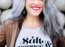 Αυτές οι 103! Γυναίκες έπαψαν να βάφουν τα μαλλιά τους & υιοθέτησαν το φυσικό γκρι ή ψαρό ή όπως θέλετε - Φώτο  - Κυρίως Φωτογραφία - Gallery - Video 20