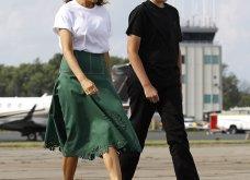 Μελάνια Τραμπ: Οι βαλίτσες , βαλιτσάκια νεσεσέρ Louis Vuitton & οι  φλόραλ Louboutin γόβες στιλέτο (φώτο-βίντεο)  - Κυρίως Φωτογραφία - Gallery - Video 8