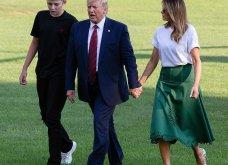 Μελάνια Τραμπ: Οι βαλίτσες , βαλιτσάκια νεσεσέρ Louis Vuitton & οι  φλόραλ Louboutin γόβες στιλέτο (φώτο-βίντεο)  - Κυρίως Φωτογραφία - Gallery - Video 10