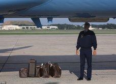 Μελάνια Τραμπ: Οι βαλίτσες , βαλιτσάκια νεσεσέρ Louis Vuitton & οι  φλόραλ Louboutin γόβες στιλέτο (φώτο-βίντεο)  - Κυρίως Φωτογραφία - Gallery - Video 13