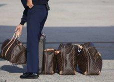 Μελάνια Τραμπ: Οι βαλίτσες , βαλιτσάκια νεσεσέρ Louis Vuitton & οι  φλόραλ Louboutin γόβες στιλέτο (φώτο-βίντεο)  - Κυρίως Φωτογραφία - Gallery - Video 14