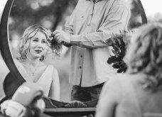 Ο σύζυγος με  δάκρυα στα μάτια κόβει τα μαλλιά της γυναίκας του & την προετοιμάζει για τη χημειοθεραπεία που ξεκινάει λόγω καρκίνου (φώτο) - Κυρίως Φωτογραφία - Gallery - Video 6