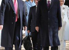 """Συνάντηση Τραμπ- Ερντογάν: Φιλοφρονήσεις & """"μπηχτές"""" - Στα λευκά η Εμινέ - Με σιέλ παλτό 2.295 δολαρίων η Μελάνια (φώτο-βίντεο) - Κυρίως Φωτογραφία - Gallery - Video 4"""