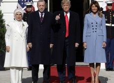 """Συνάντηση Τραμπ- Ερντογάν: Φιλοφρονήσεις & """"μπηχτές"""" - Στα λευκά η Εμινέ - Με σιέλ παλτό 2.295 δολαρίων η Μελάνια (φώτο-βίντεο) - Κυρίως Φωτογραφία - Gallery - Video 5"""