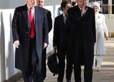"""Συνάντηση Τραμπ- Ερντογάν: Φιλοφρονήσεις & """"μπηχτές"""" - Στα λευκά η Εμινέ - Με σιέλ παλτό 2.295 δολαρίων η Μελάνια (φώτο-βίντεο) - Κυρίως Φωτογραφία - Gallery - Video 10"""