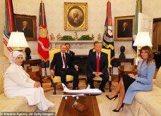 """Συνάντηση Τραμπ- Ερντογάν: Φιλοφρονήσεις & """"μπηχτές"""" - Στα λευκά η Εμινέ - Με σιέλ παλτό 2.295 δολαρίων η Μελάνια (φώτο-βίντεο) - Κυρίως Φωτογραφία - Gallery - Video 11"""