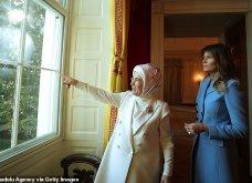 """Συνάντηση Τραμπ- Ερντογάν: Φιλοφρονήσεις & """"μπηχτές"""" - Στα λευκά η Εμινέ - Με σιέλ παλτό 2.295 δολαρίων η Μελάνια (φώτο-βίντεο) - Κυρίως Φωτογραφία - Gallery - Video 20"""