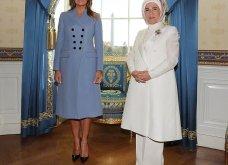 """Συνάντηση Τραμπ- Ερντογάν: Φιλοφρονήσεις & """"μπηχτές"""" - Στα λευκά η Εμινέ - Με σιέλ παλτό 2.295 δολαρίων η Μελάνια (φώτο-βίντεο) - Κυρίως Φωτογραφία - Gallery - Video 21"""