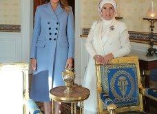 """Συνάντηση Τραμπ- Ερντογάν: Φιλοφρονήσεις & """"μπηχτές"""" - Στα λευκά η Εμινέ - Με σιέλ παλτό 2.295 δολαρίων η Μελάνια (φώτο-βίντεο) - Κυρίως Φωτογραφία - Gallery - Video 22"""