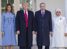 """Συνάντηση Τραμπ- Ερντογάν: Φιλοφρονήσεις & """"μπηχτές"""" - Στα λευκά η Εμινέ - Με σιέλ παλτό 2.295 δολαρίων η Μελάνια (φώτο-βίντεο) - Κυρίως Φωτογραφία - Gallery - Video 3"""