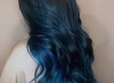 Blue black & γαλάζια μαλλιά: 30 εντυπωσιακές προτάσεις για το πιο δημοφιλές χρώμα της χρονιάς - Φώτο - Κυρίως Φωτογραφία - Gallery - Video 20