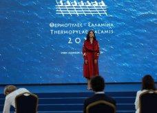 Πρόεδρος Σακελλαροπούλου, Πρωθυπουργός & Μαρέβα, Μαρ. Βαρδινογιάννη στα 2.500  χρόνια από τη μάχη Θερμοπυλών & τη ναυμαχία Σαλαμίνας  - Κυρίως Φωτογραφία - Gallery - Video 3