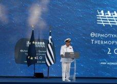 Πρόεδρος Σακελλαροπούλου, Πρωθυπουργός & Μαρέβα, Μαρ. Βαρδινογιάννη στα 2.500  χρόνια από τη μάχη Θερμοπυλών & τη ναυμαχία Σαλαμίνας  - Κυρίως Φωτογραφία - Gallery - Video 6