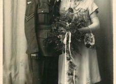 Γάμος εν καιρώ πολέμου: Έτσι ήταν οι νύφες το 1940 - Άλλες με μακριά φουστάνια και πέπλα & άλλες με απλά φορέματα (φωτό) - Κυρίως Φωτογραφία - Gallery - Video 15