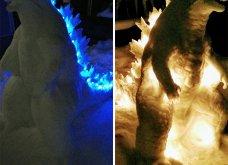 Ιάπωνας καλλιτέχνης φτιάχνει απίθανα γλυπτά από χιόνι: Σμιλεύει τις φιγούρες του Godzilla και των Minions (φωτό) - Κυρίως Φωτογραφία - Gallery - Video 10