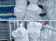 Ιάπωνας καλλιτέχνης φτιάχνει απίθανα γλυπτά από χιόνι: Σμιλεύει τις φιγούρες του Godzilla και των Minions (φωτό) - Κυρίως Φωτογραφία - Gallery - Video 4