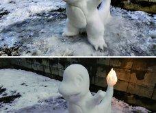 Ιάπωνας καλλιτέχνης φτιάχνει απίθανα γλυπτά από χιόνι: Σμιλεύει τις φιγούρες του Godzilla και των Minions (φωτό) - Κυρίως Φωτογραφία - Gallery - Video 8
