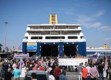 Δεμένα τα πλοία στα λιμάνια - Οι κινητοποιήσεις των ναυτεργατών στον Πειραιά (φώτο) - Κυρίως Φωτογραφία - Gallery - Video 2