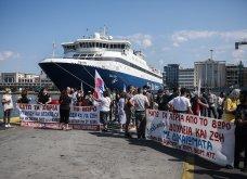 Δεμένα τα πλοία στα λιμάνια - Οι κινητοποιήσεις των ναυτεργατών στον Πειραιά (φώτο) - Κυρίως Φωτογραφία - Gallery - Video 3