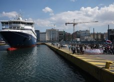 Δεμένα τα πλοία στα λιμάνια - Οι κινητοποιήσεις των ναυτεργατών στον Πειραιά (φώτο) - Κυρίως Φωτογραφία - Gallery - Video 9
