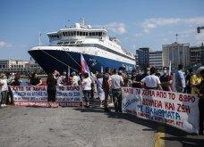 Δεμένα τα πλοία στα λιμάνια - Οι κινητοποιήσεις των ναυτεργατών στον Πειραιά (φώτο) - Κυρίως Φωτογραφία - Gallery - Video 11
