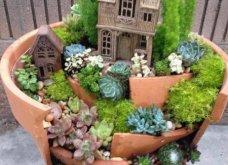 Φαντασία & μεράκι για μικρούς φανταστικούς κήπους μέσα σε σπασμένες γλαστρούλες - Κυρίως Φωτογραφία - Gallery - Video 6