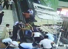 Κίνα: Οροφή καταρρέει & οι τουρίστες τρέχουν να σωθούν! Συγκλονιστικές εικόνες- Τουλάχιστον 9 τραυματίες (ΦΩΤΟ-ΒΙΝΤΕΟ) - Κυρίως Φωτογραφία - Gallery - Video