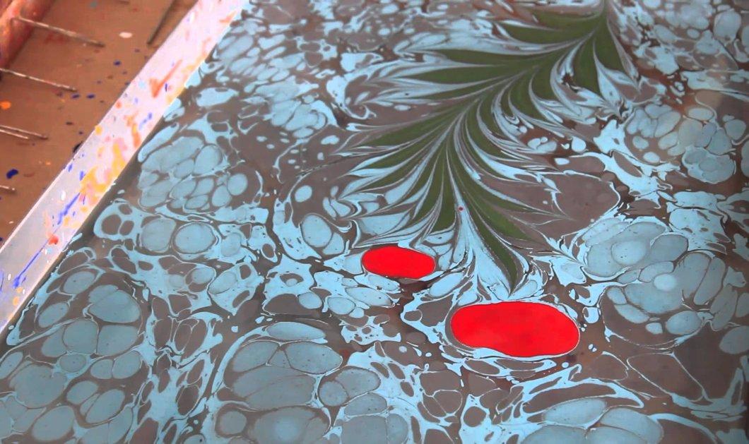 Καταπληκτικό βίντεο: Καλλιτέχνης ζωγραφίζει πάνω σε νερό & εντυπωσιάζει - Κυρίως Φωτογραφία - Gallery - Video