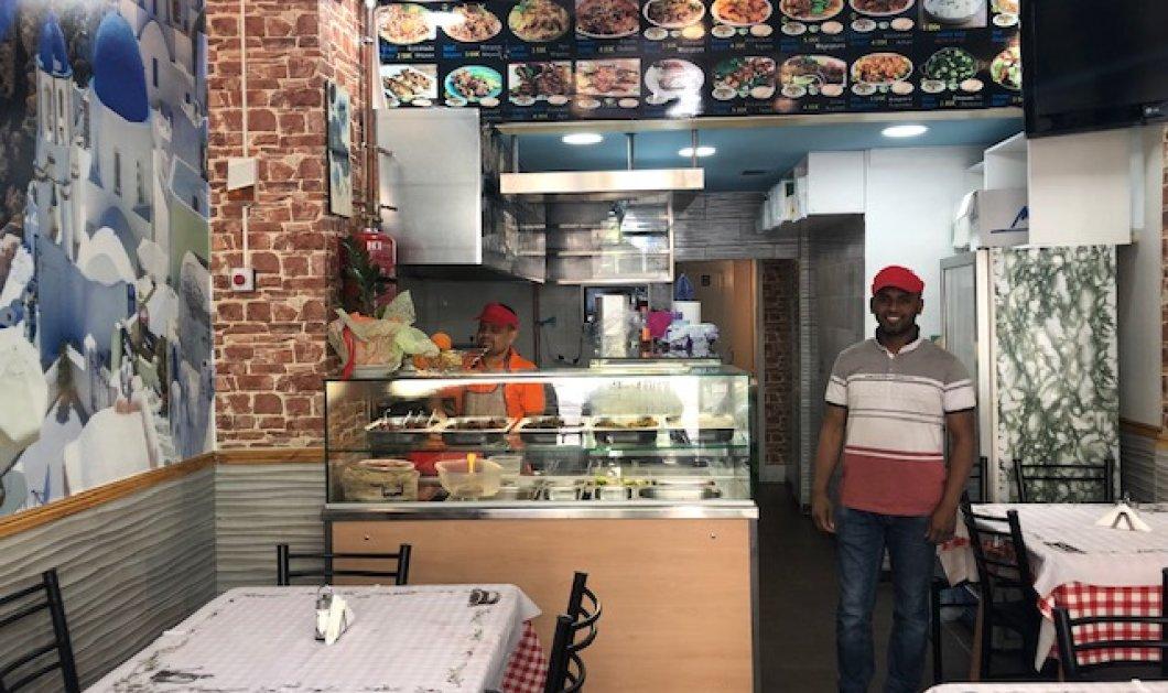 Ο Λιουσούφ από το Μπαγκλαντές άνοιξε εστιατοριάκι στην Αχαρνών με πόστερ από την Σαντορίνη αλλά & την πατρίδα του (φωτο) - Κυρίως Φωτογραφία - Gallery - Video