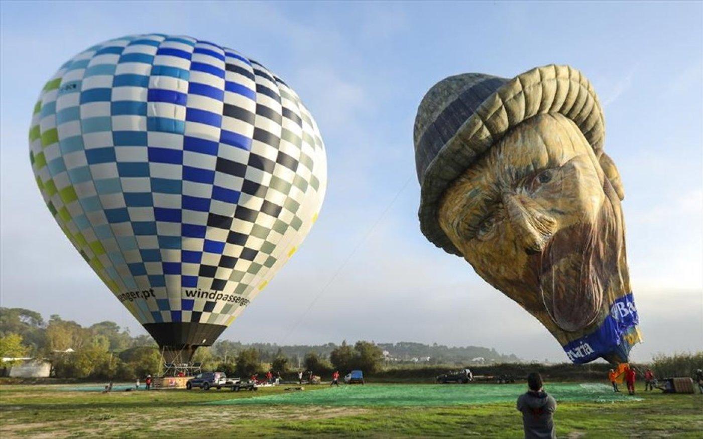 Αερόστατο με προσωπογραφία του Βίνσεντ βαν Γκογκ ετοιμάζεται για φεστιβάλ στην Πορτογαλία - Photo: EPA / MIGUEL A. LOPES - Κυρίως Φωτογραφία - Gallery - Video